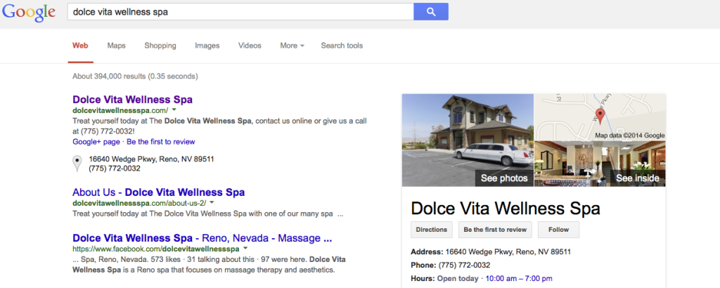 Reno Google Trusted Photographer Marcello Rostagni photographs Docle Vita Wellness Spa!